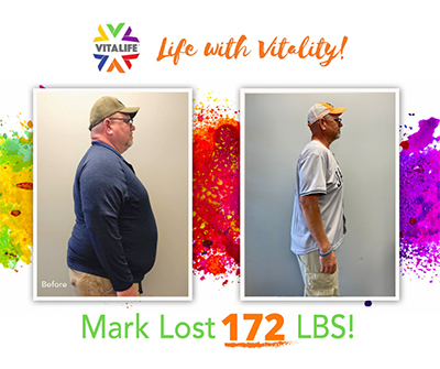 Weight Loss Success at VitaLife Down 172 Pounds