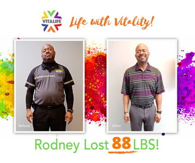 Weight Loss Success at VitaLife Down 88 Pounds